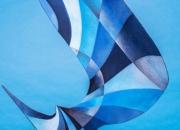 Descending Colloraboration Jerry Schmidt -Steel Matt Merchant- Painter 1'6''X2'2''