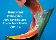 Reunited Collaboration Jerry Schmidt- Steel Jo-Ann Rencz Painter 2'10'' x 2'