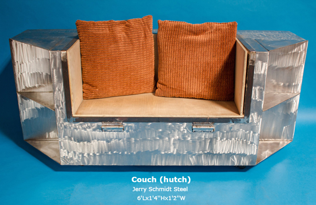 Couch (hutch) Jerry Schmidt Steel 6'Lx1'4''Hx1'2''W