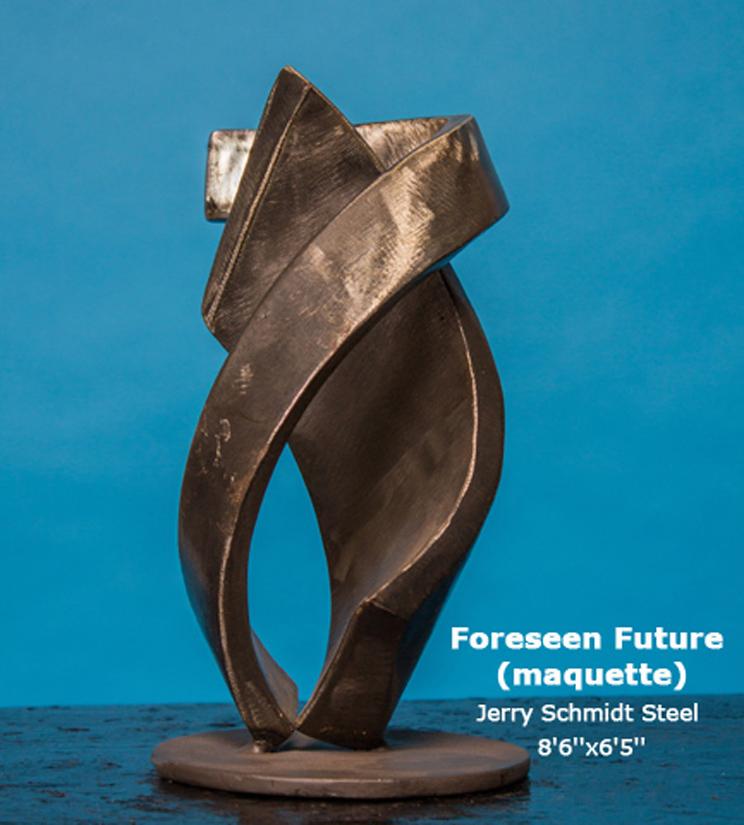 Foreseen Future (maquette) Jerry Schmidt Steel 8'6''x6'5''
