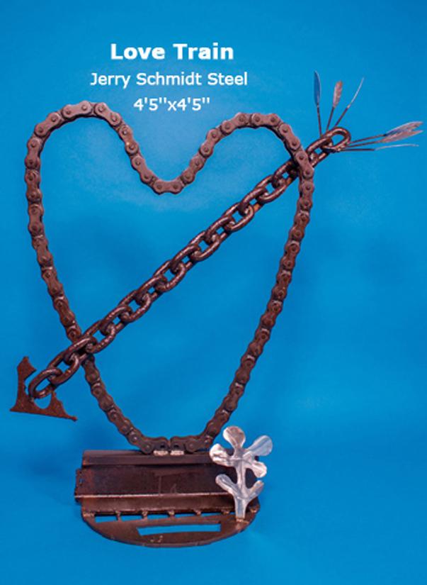 Love Train Jerry Schmidt Steel 4'5''x4'5''