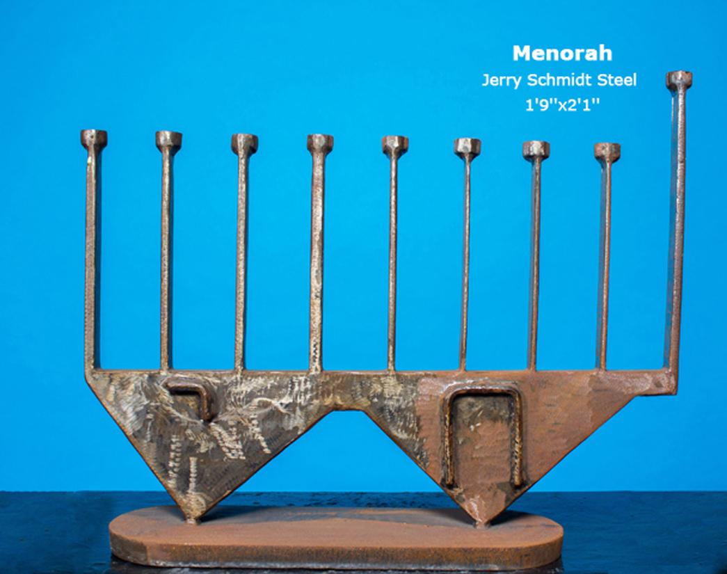 Menorah Steel Jerry Schmidt 1'9''x2'1''