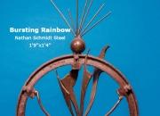 Bursting Rainbow Nathan Schmidt Steel 1'9''x1'4''