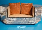 Couch (hutch) Jerry Schmidt Steel 6'Lx1'4''Hx1'2''W