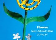 Flower Jerrry Schmidt Steel 2'7''x1'9''